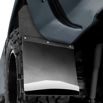 "Husky Liners® - Kickback 14"" Wide Mud Flaps with Black Top and Stainless Steel Weight"