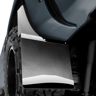 "Husky Liners® - Kickback 14"" Wide Mud Flaps with Stainless Steel Top and Weight"