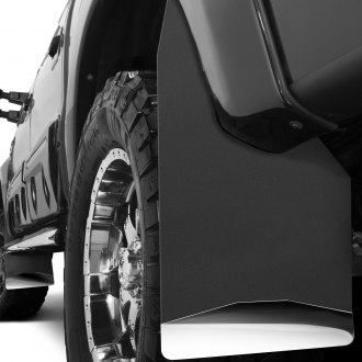Husky Liners® - Black Mud Flaps with Polished Weight