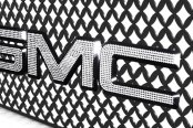 IcedOutEmz® - 3D Chrome Grill GMC Emblem with Clear Crystals