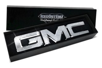 IcedOutEmz® - 3D Chrome Grill GMC Emblem with Crystals