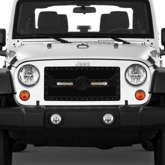 ICI® - 1-Pc Magnum BL Series LED Light Black Mesh Main Grille