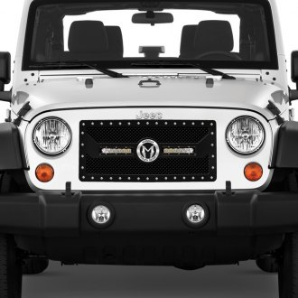 ICI® - 1-Pc Magnum CL Series LED Light Black Mesh Main Grille