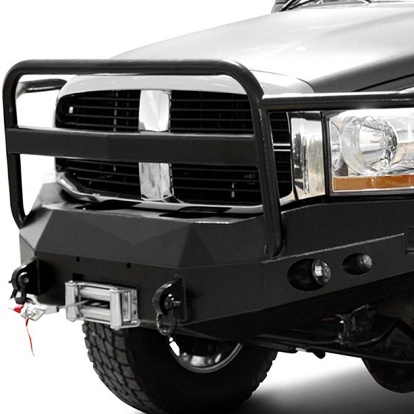 Image may not reflect your exact vehicle! ICI® - Magnum™ Front Bumper with Tube Grille Guard