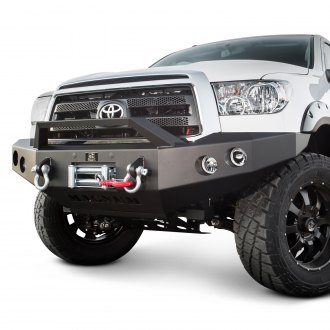 ICI® - Magnum™ Full Width Black Front Winch HD Bumper with RT-Series Light Bar