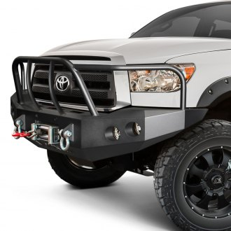ICI® - Magnum™ Full Width Black Front Winch HD Bumper with Tube Grille Guard