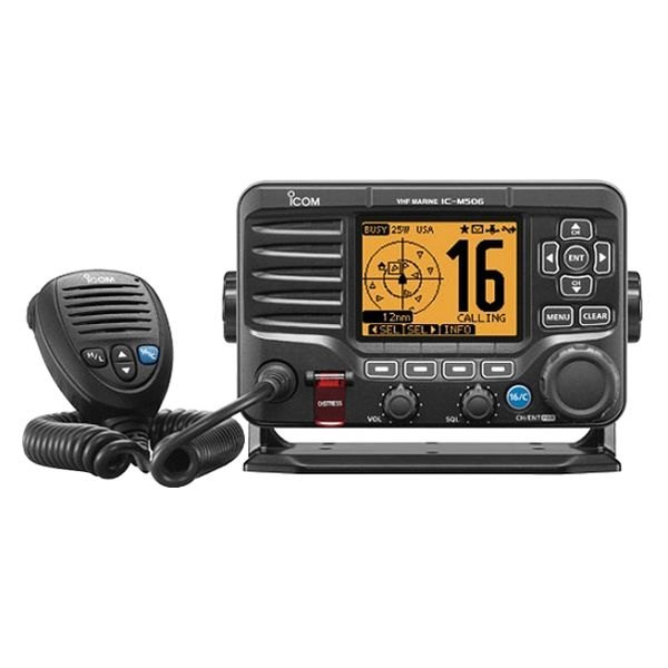 Icom® - Black VHF Radio NMEA 2000 And AIS Front Mic