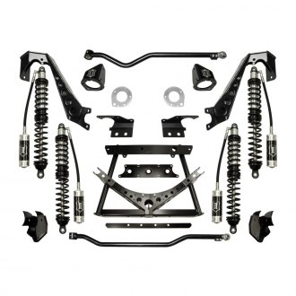 "ICON® - 1.75""-3"" x 1.75""-3"" Adjustable Coilover Conversion Front and Rear Suspension Lift Kit"