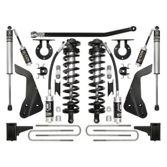 "ICON® - 4""-5.5"" x 4""-5.5"" Coilover Conversion Front and Rear Suspension Lift Kit"