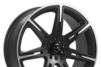 "ICW RACING® - KAMIKAZE Black with Machined Accents and Lip (15"" x 6.5"", +38 Offset, 5x114.3 Bolt Pattern, 73mm Hub)"