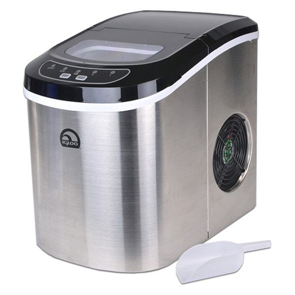 Igloo Portable Countertop Ice Maker Reviews : Igloo? ICE102ST-RC - Portable Stainless Steel Countertop Ice Maker