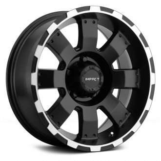 "IMPACT OFF ROAD® - 505BME 17"" STYLE DESTROYER Black with Machined Edges"
