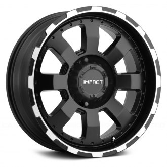 "IMPACT OFF ROAD® - 505BME 18""/20"" STYLE DESTROYER Black with Machined Edges"