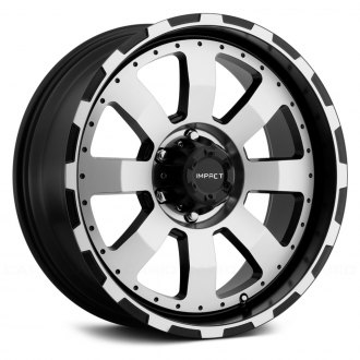 "IMPACT OFF ROAD® - 505BMF 18""/20"" STYLE DESTROYER Black with Machined Face"