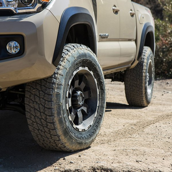 IMPACT OFF ROAD® 505 BMF Destroyer Black Machined Edges on Toyota Tacoma