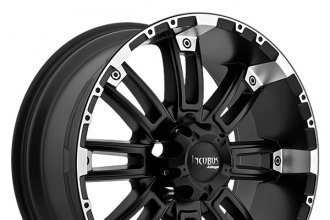 "INCUBUS® - CRUSHER Flat Black with Machined Lip (17"" x 9"", +12 Offset, 5x139.7 Bolt Pattern, 110mm Hub)"