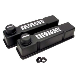Inglese® - Black-Wrinkle Die Cast Aluminum Valve Cover Kit