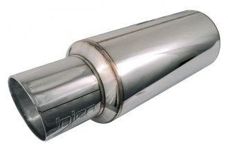 Injen® SES225C - Universal Muffler (2 3/8-in. w/ Stainless Steel Resonated Rolled Tip)