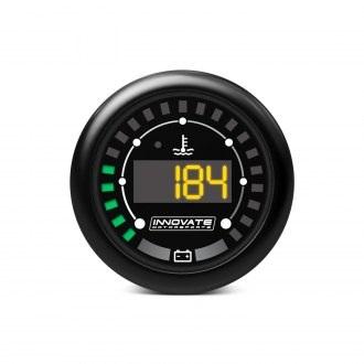 "Innovate Motorsports® - MTX-D 2-1/16"" In-Dash Black Digital Gauge (Water Temperature & Battery Voltage)"
