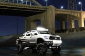 Toyota Tundra with white steel off-road bumper