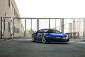 Blue Acura NSX Gets Sharp Look With Yellow Calipers and Body Accents