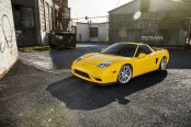 Yellow Acura NSX Get a Distinct Look with Chrome Strasse Rims