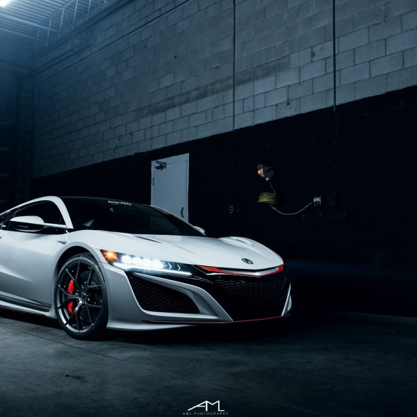 White Acura NSX With Blacked Out Mesh Grille   Photo By Arlen Liverman