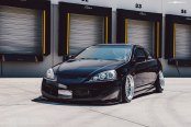 Moderate Tuning Kit on Black Acura RSX