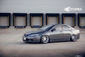 Gray Dropped Acura TSX Wearing Avant Garde Rims