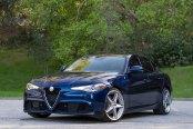 Unique Chrome Forgiato Wheels Enhancing Blue Alfa Romeo Guilia