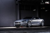 Entrancing Silver Aston Martin DBS Rolling on Vellano Wheels