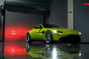 Neat and Futuristic: Lime Green Aston Martin Vantage Goes in Style Wearing Custom Wheels