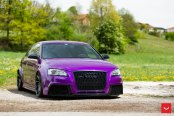 Stanced Out Purple Audi A3 Enhanced by Aftermarket Parts