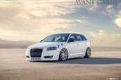 White Lowered Audi A3 Upgraded with Exterior Goodies