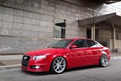 Red Audi A4 Gets Stylish Looks with Polished Avant Garde Wheels