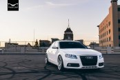 True Custom Look of White Audi A4 on Concept One Wheels