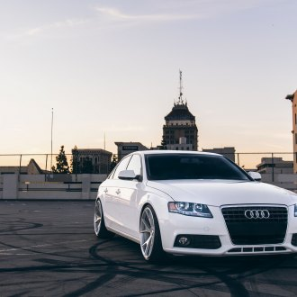 Front Per With Fog Lights On White Audi A4 Photo By Concept One