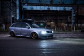 Roof Rack and Bronze JR Wheels Beautify Gray Audi A4