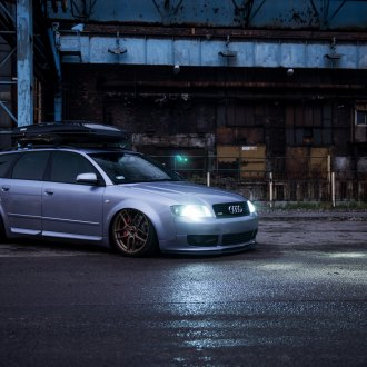 Aftermarket Headlights On Gray Audi A4 Photo By Jr Wheels