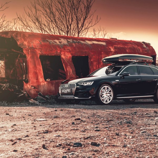 Black Audi A4 with Roof Rack - Photo by Vossen