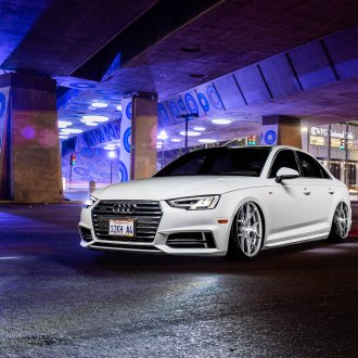 Custom Chrome Billet Grille on White Audi A4 - Photo by Rohana Wheels