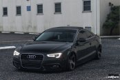 Blacked Out AudiA5 Coupe Showing-off LED Headlights and Taillights