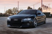 Updated Face of Black Audi A5 with Custom Mesh Grille