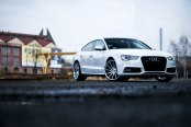 Graceful White Audi A5 with Styling Tweaks