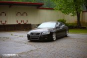 Stanced Audi A6 Put on Chrome Vossen Wheels