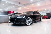 Multispoke Chrome Rims on Black Audi A6