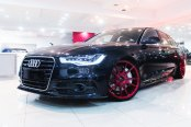 Modish Black Audi A6 Wearing Custom Red JR Wheels