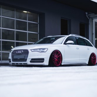 Custom Front Bumper on White Audi A6 - Photo by JR Wheels