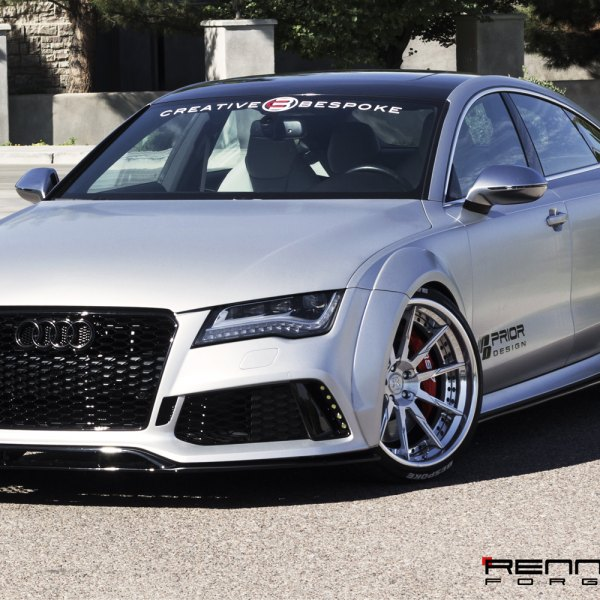 Silver Audi A7 With Aftermarket Front Bumper   Photo By Rennen International