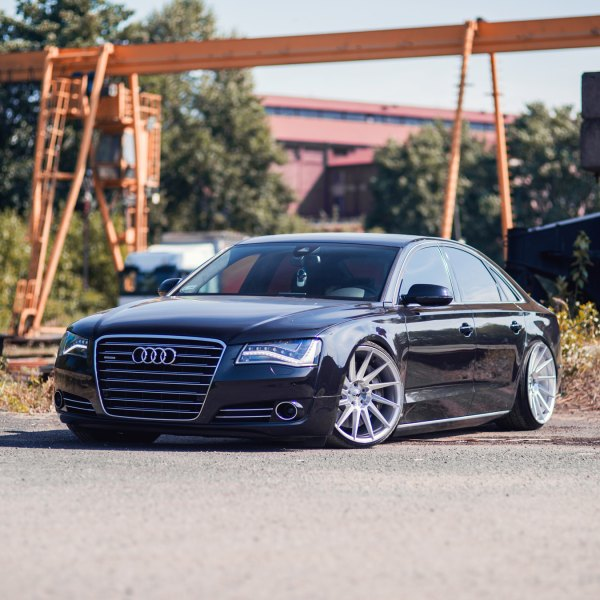 Black Audi A8 with Chrome Billet Grille - Photo by JR Wheels